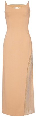 David Koma Embellished crepe midi dress