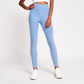 River Island Womens Blue denim look high waist leggings