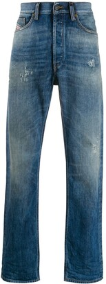 Diesel Low Rise Straight Leg Jeans