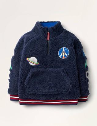 Borg Space Half-zip Sweatshirt