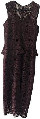 Burberry Burgundy Lace Dress for Women