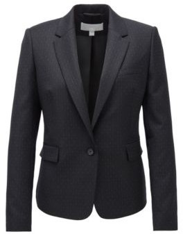 Regular-fit jacket in patterned stretch fabric