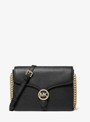 MICHAEL Michael Kors Vanna Medium Pebbled Leather Crossbody Bag