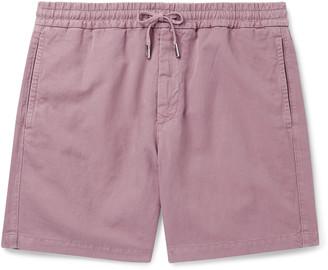 Mr P. Linen And Cotton-Blend Drawstring Shorts