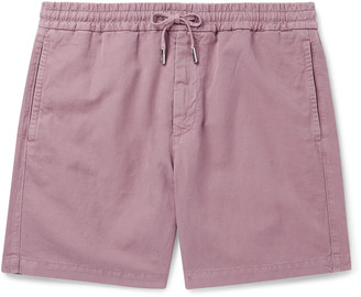 Mr P. Slub Linen And Cotton-Blend Drawstring Shorts