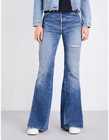 RE/DONE Flared high-rise jeans