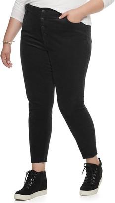 UNIONBAY Juniors' Plus Size Stretch Corduroy Skinny Ankle Pants