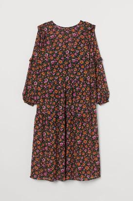 H&M H&M+ Ruffle-trimmed Dress - Orange