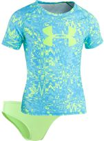 Under Armour Girls 7-16 Pop Logo Rashguard & Bottoms Swimsuit Set