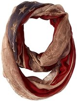D&Y Women's Distressed American Flag Infinity Scarf