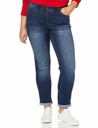 Ulla Popken Women's Vmnewleilani Ls V-Back Blouse Slim Jeans