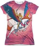 She Ra She-Ra Princess of Power Cartoon Flying Unicorn Junior Front Print T-Shirt