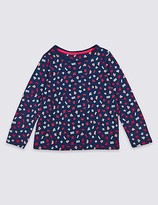 Marks and Spencer Pure Cotton Long Sleeve Top (3 Months - 5 Years)