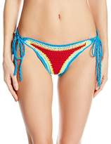 Hobie Women's How Do You Hue Crochet Adjustable Hipster Bikini Bottom