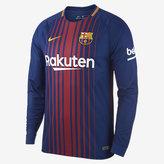 Nike 2017/18 FC Barcelona Stadium Home Men's Long Sleeve Soccer Jersey