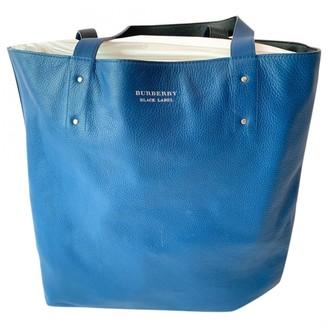 Burberry Navy Leather Handbags
