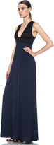 A.L.C. Kelly Poly Vicscose-Blend Dress in Navy