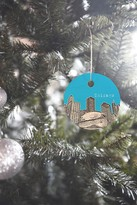 DENY Designs Bird Ave Chicago Illinois Blue Ornament
