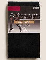 Autograph UsMarks and Spencer 40 Denier Fine Cotton Tights