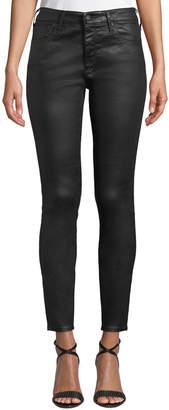 AG Jeans Farrah Sateen High-Rise Ankle Skinny Jeans