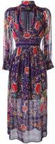 Roberto Cavalli printed v-neck dress