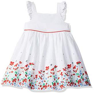 Mothercare Girl's White Border Prom Dress 61, (Size:68CM)