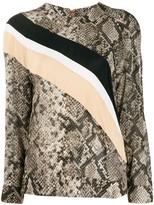 Class Roberto Cavalli snakeskin print loose-fit top