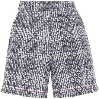 Thom Browne Checked Cotton-blend Tweed Shorts