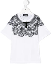 DSQUARED2 lace detail T-shirt - kids - Cotton - 4 yrs