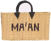 Medium Logo Woven Straw Tote Bag