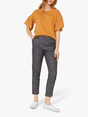 White Stuff Summer Cropped Trousers, Dark Navy