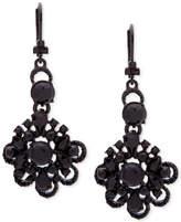 Marchesa Colored Crystal & Bead Flower Drop Earrings