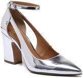 Franco Sarto Kalindi Metallic Ankle Strap Block Heel Pumps