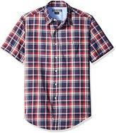 U.S. Polo Assn. Men's Short Sleeve Classic Fit Plaid Poplin Sport Shirt