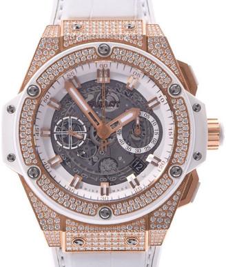 Hublot White Diamonds 18K Rose Gold King Power Unico 701.OE.0128.GR.1704 Automatic Men's Wristwatch 45 MM