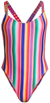 All Things Mochi Monique Rainbow Stripe One-Piece Swimsuit