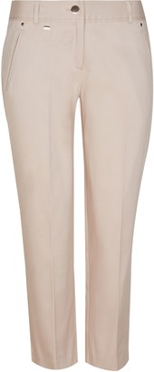 Wallis PETITE Stone Cotton Cropped Trousers