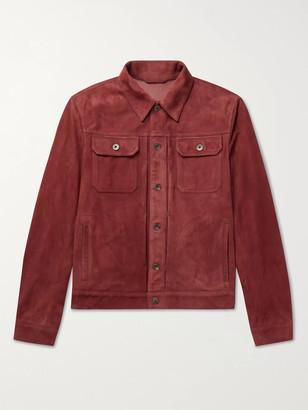Valstar Suede Trucker Jacket - Men - Red