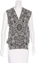 Helmut Lang Silk-Blend Patterned Top