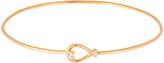 Bliss Cubic Zirconia & Gold Loop Bangle Bracelet