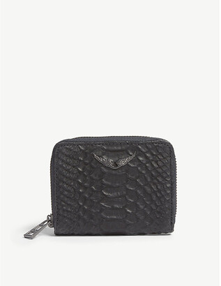 Zadig & Voltaire Noir Black ZV Leather Wallet