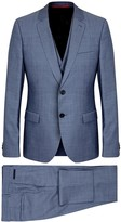 Hugo Blue Super 110's Wool Three-piece Suit