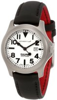 Momentum Ladies 1M-SP01W12B Atlas White Dial Black Touch Leather Watch