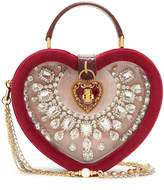 Dolce & Gabbana Crystal-embellished heart-shaped bag