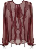 Thomas Wylde frill trim sheer blouse