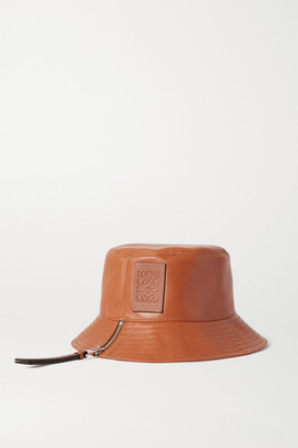 Loewe Appliqued Leather Bucket Hat - Tan