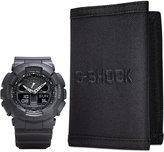 G-Shock Men's Analog Digital Black Resin Strap Watch and Wallet Gift Set 55x51mm GA100-1A1BOB