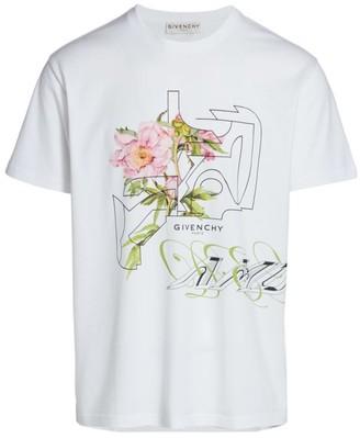Givenchy Peony Maze Graphic T-Shirt