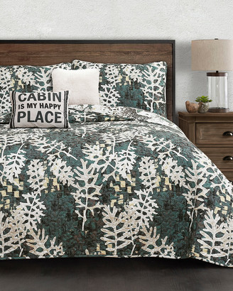 Triangle Home Fashion Fashions 5Pc Camouflage Leaves Quilt Set