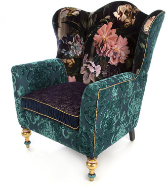 Mackenzie Childs Moonlight Garden Off The Record Wing Chair